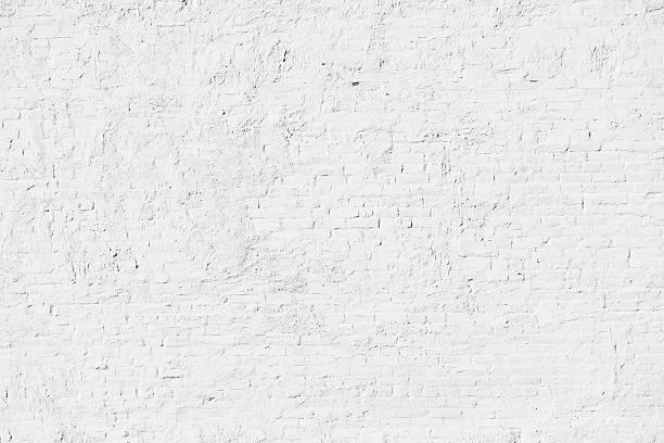 mur de briques blanches - brique photos et images de collection
