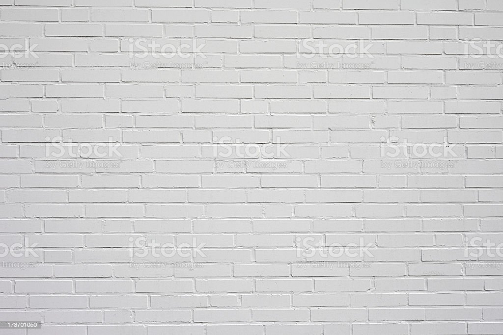 White Brick Wall royalty-free stock photo