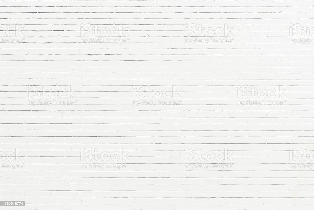 white brick wall stock photo