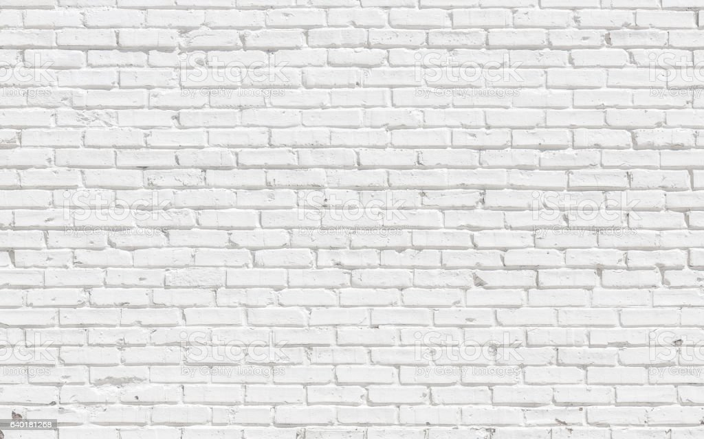 White brick wall  – Foto