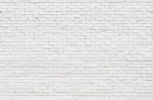 mur de briques blanches  - blanc photos et images de collection