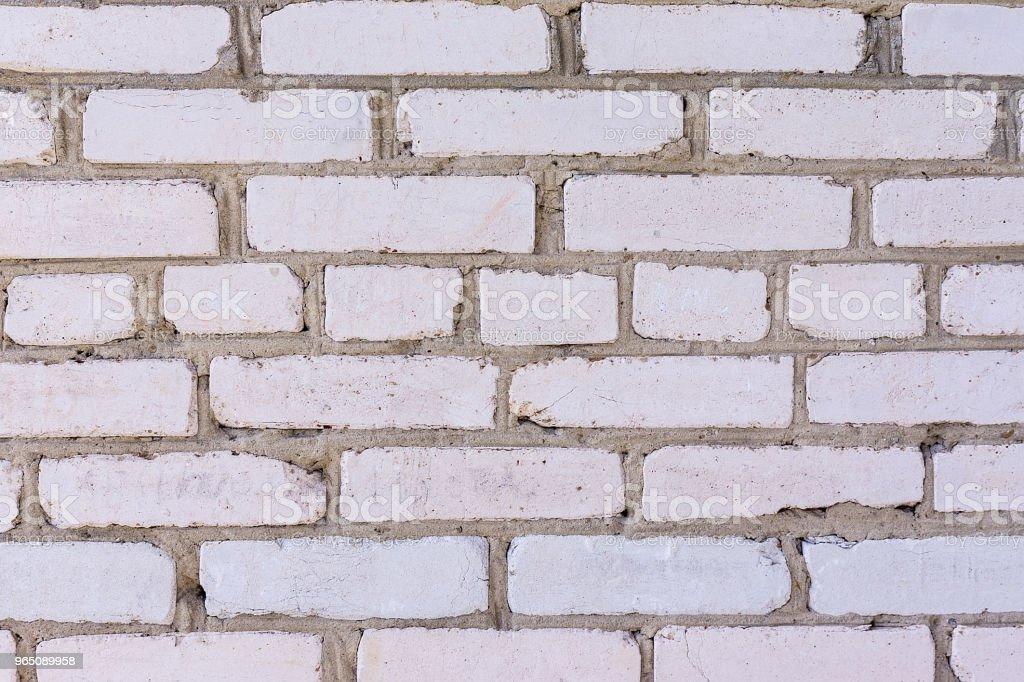 White brick wall zbiór zdjęć royalty-free