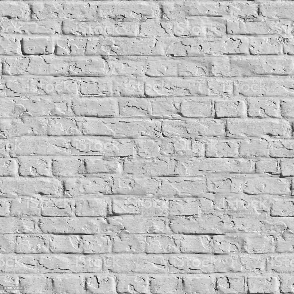 White Brick Wall Seamless Texture. royalty-free stock photo