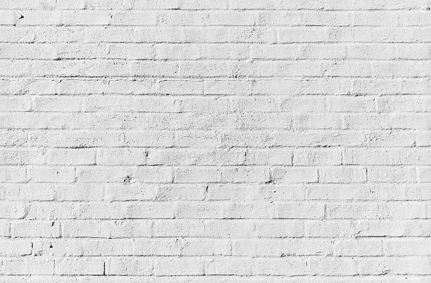White brick wall, seamless texture stock photo