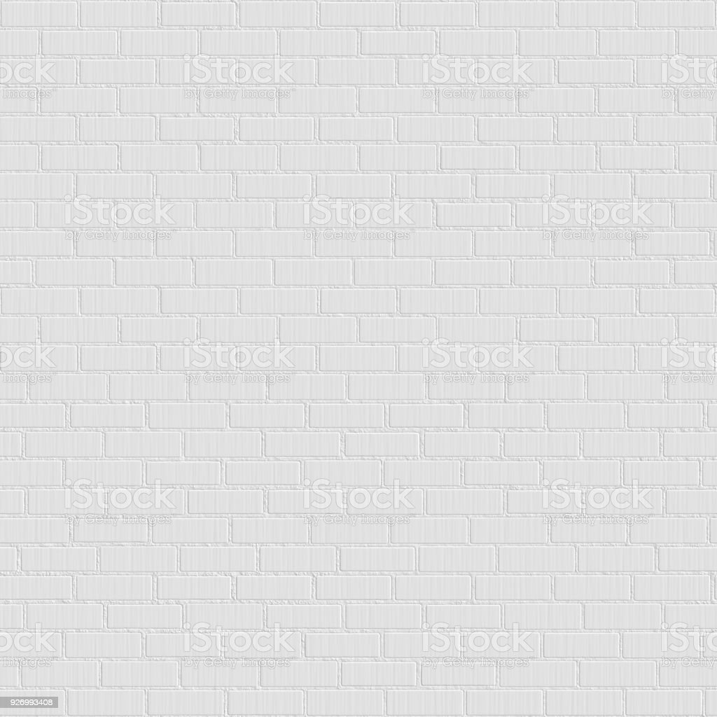 White Brick Wall Seamless Texture Stock Photo Download Image Now Istock