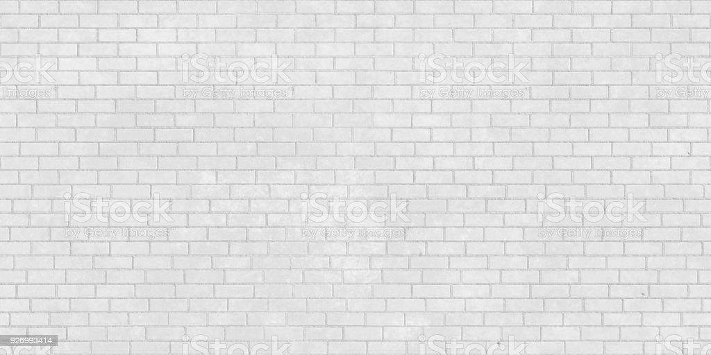 White brick wall seamless texture stock photo