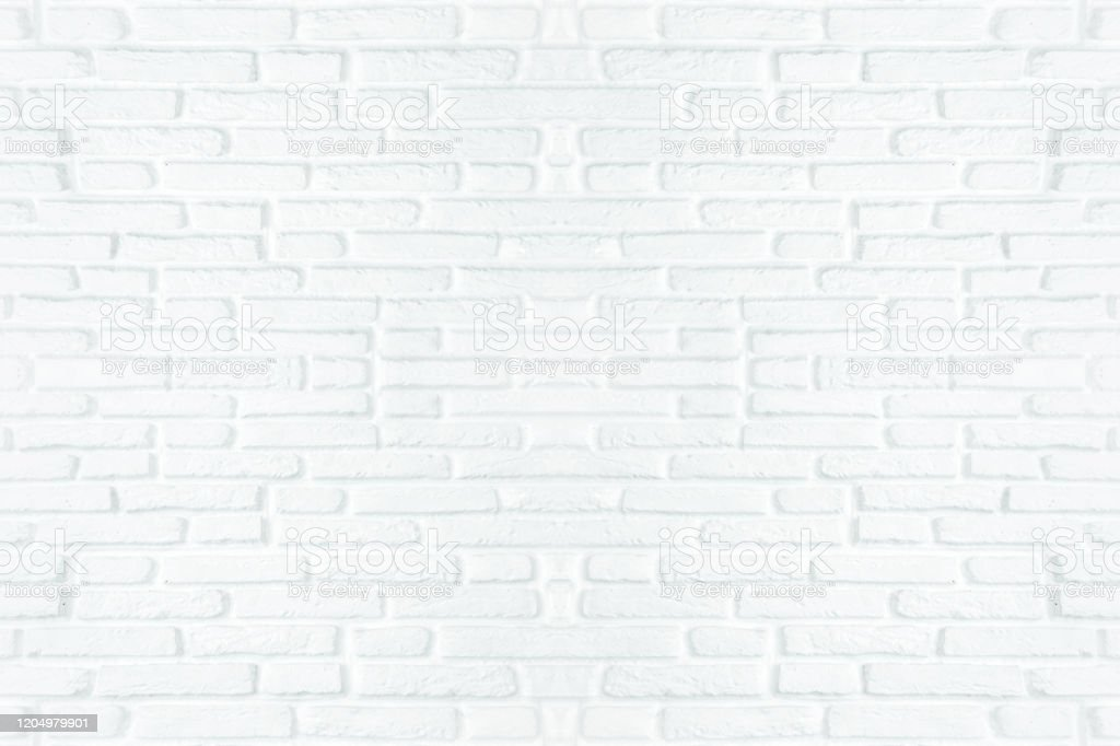 White Brick Wall Texture Background For Stone Tile Block Painted In Grey Light Color Wallpaper Modern Interior Or Exterior And Backdrop Design Stock Photo Download Image Now Istock
