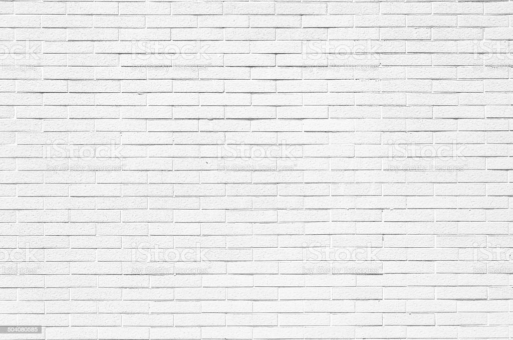 White brick wall texture background stock photo