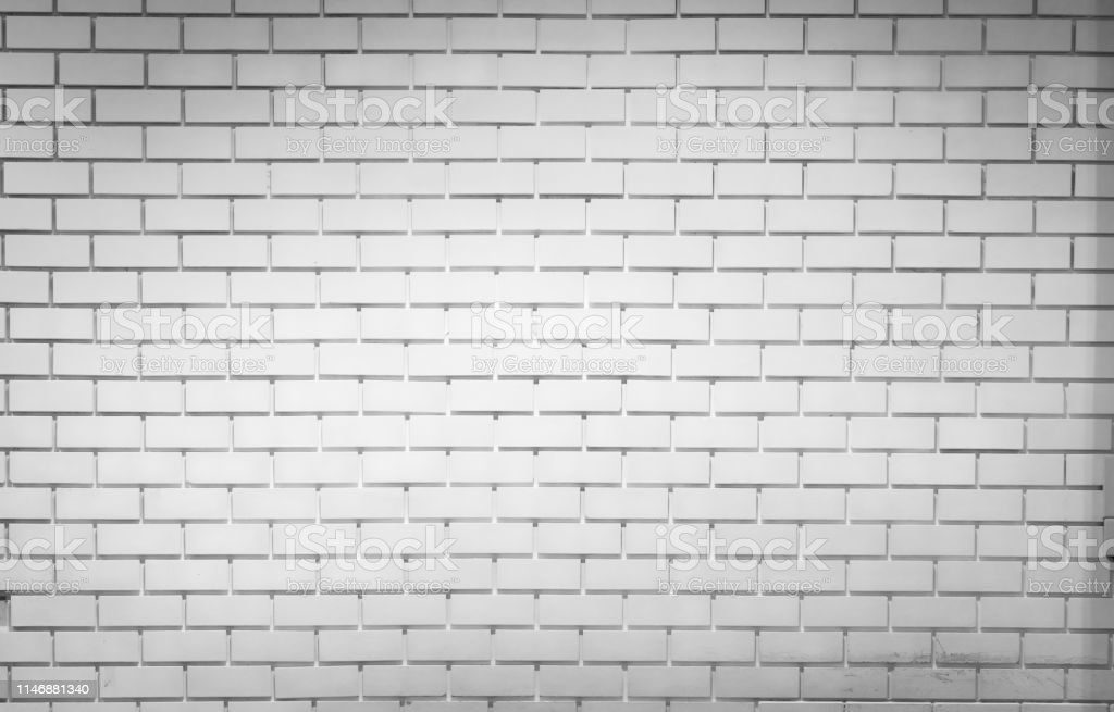 White Brick Wall Texture Background With Space For Text