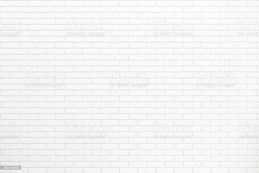 white brick wall texture for background usage as backdrop design royalty-free stock photo
