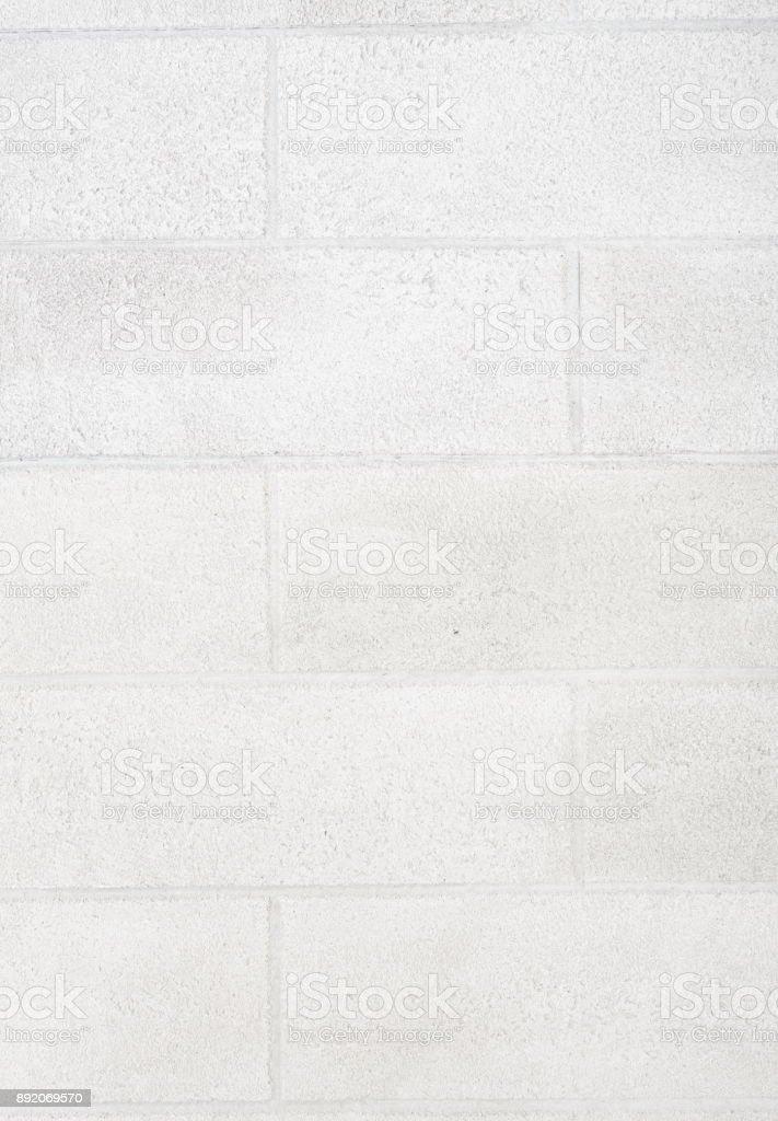 White brick wall texture. Seamless background stock photo