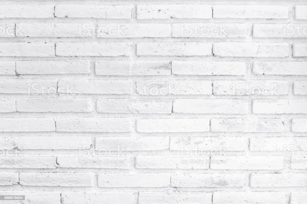 White brick wall textured background stock photo