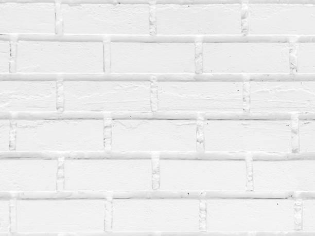 White brick wall textured stock photo