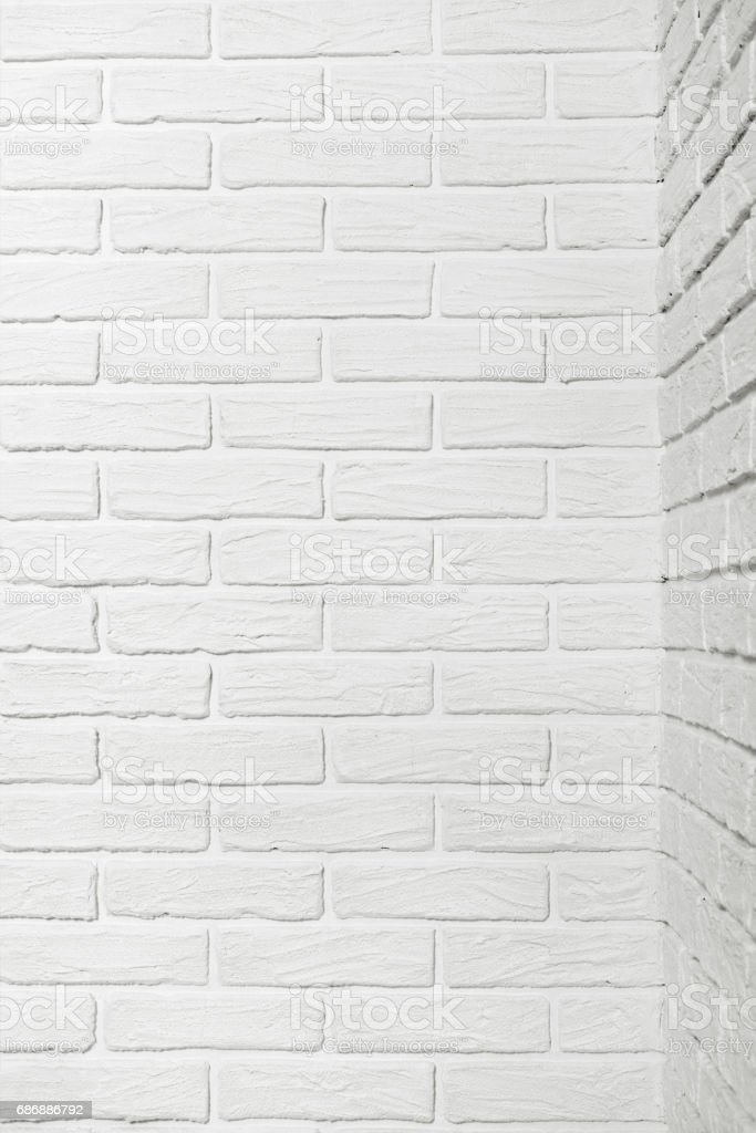 White Brick Wall With Corner Abstract Background Photo Stock Photo
