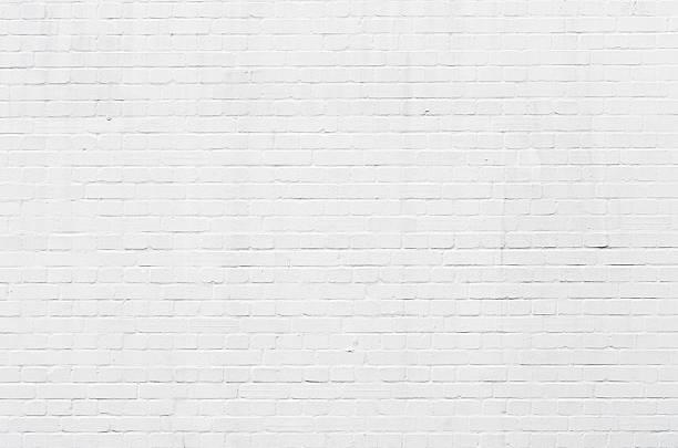 White brickwall surface stock photo