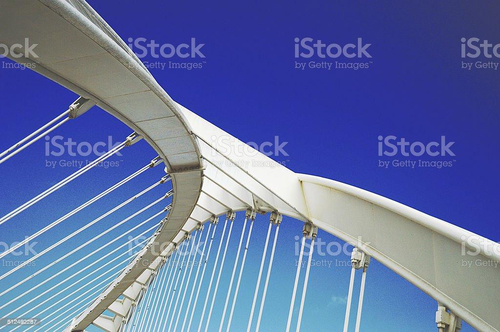 White Bridge in Barcelona stock photo