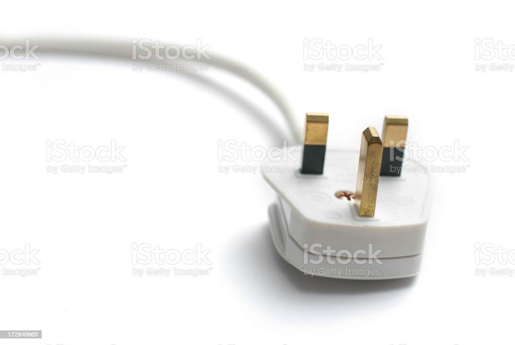 White british power plug stock photo