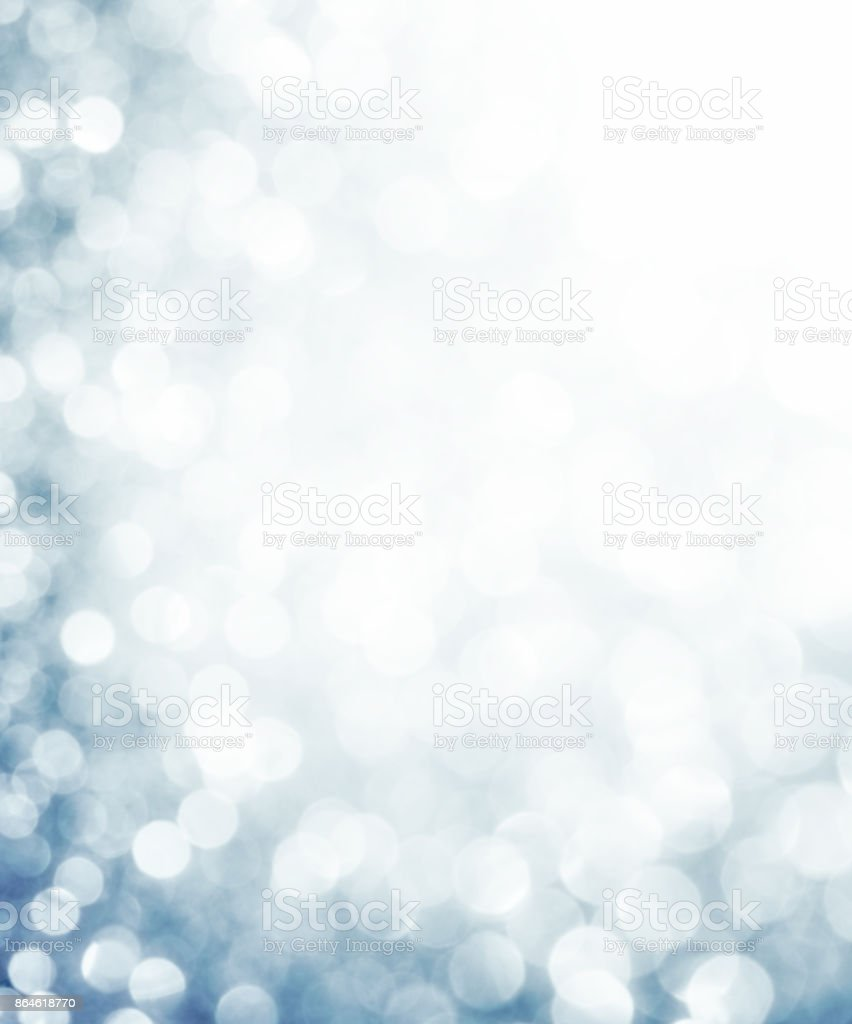 White bubbles and glitters stock photo
