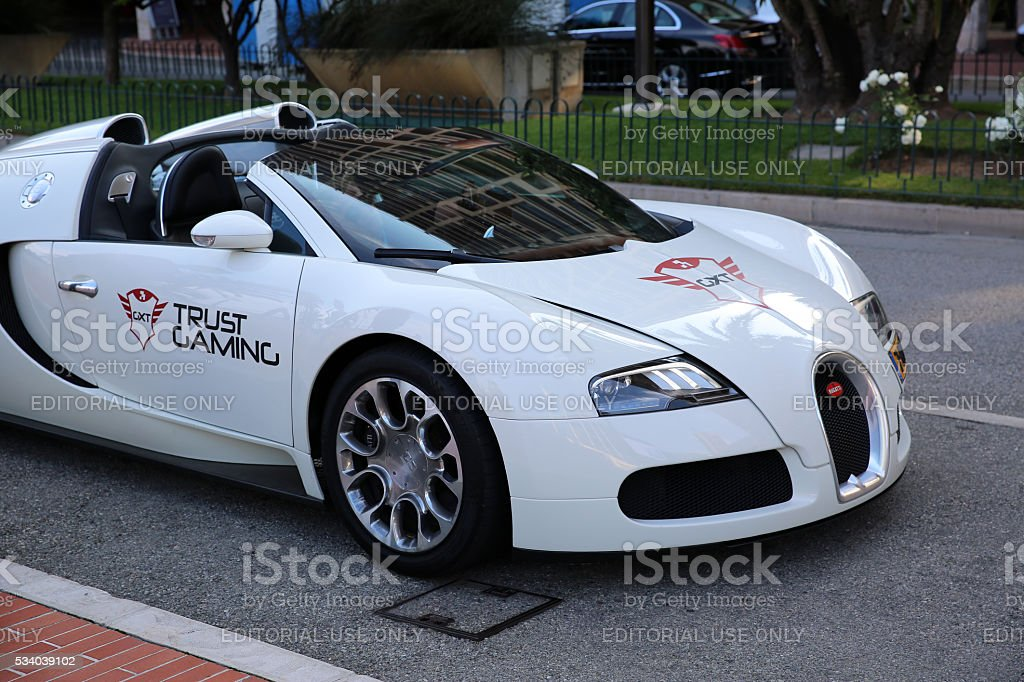 White Bugatti Veyron 16.4 Grand Sport stock photo