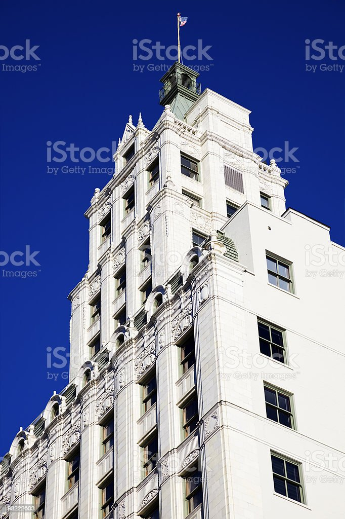 White Building against Blue Sky royalty-free stock photo