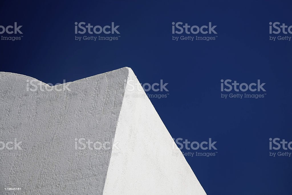 White Building against Blue Sky-Click for more exteriors royalty-free stock photo