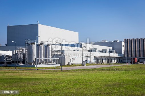 White buildings of modern factory