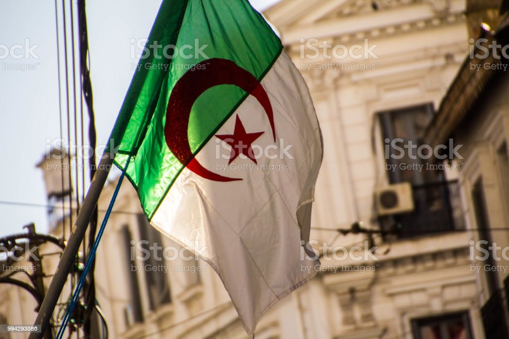 Bâtiments blancs vus partir de rues d'Alger (Alger), Algérie - Photo