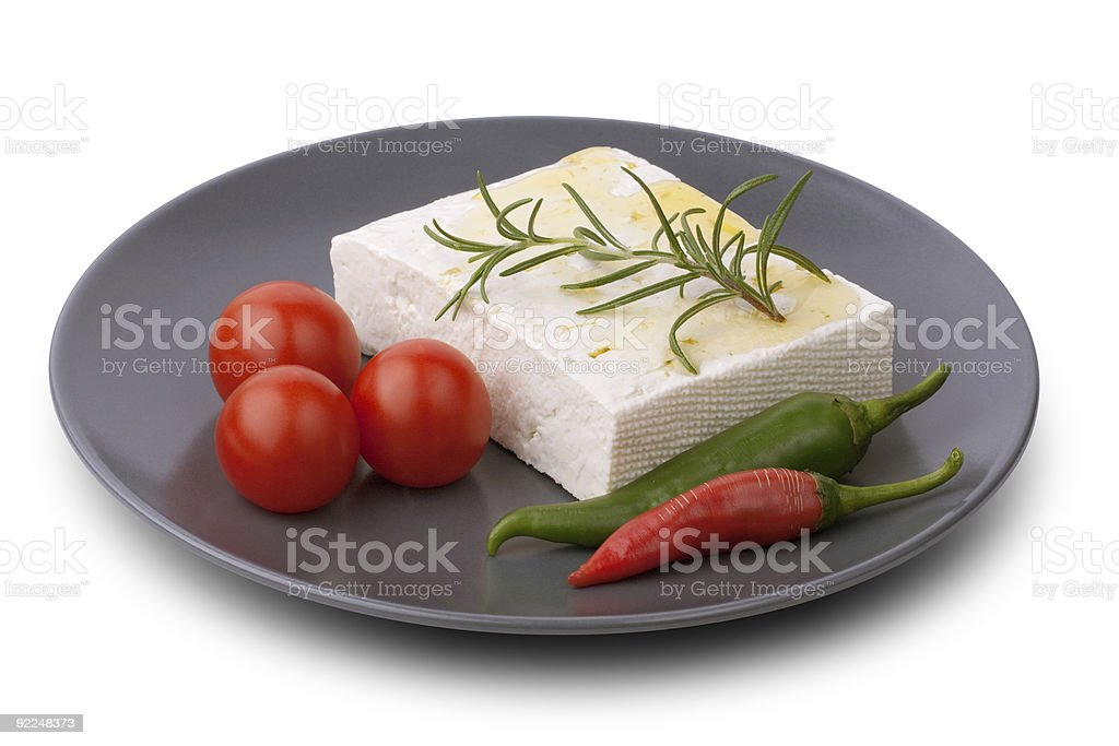 White Bulgarian cheese royalty-free stock photo