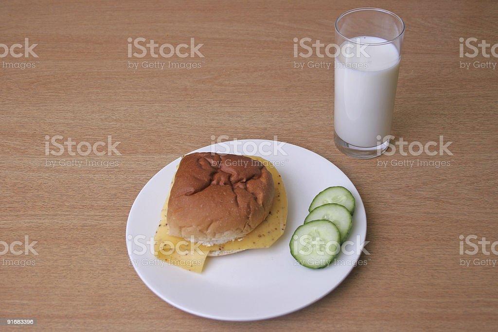 white bun on a plate stock photo