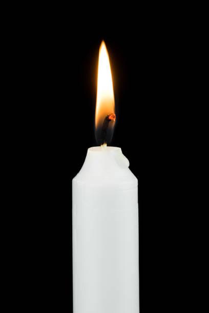 White Burning Candle stock photo