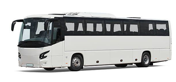 White Bus Isolated