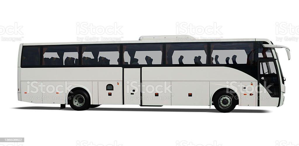 White Bus royalty-free stock photo