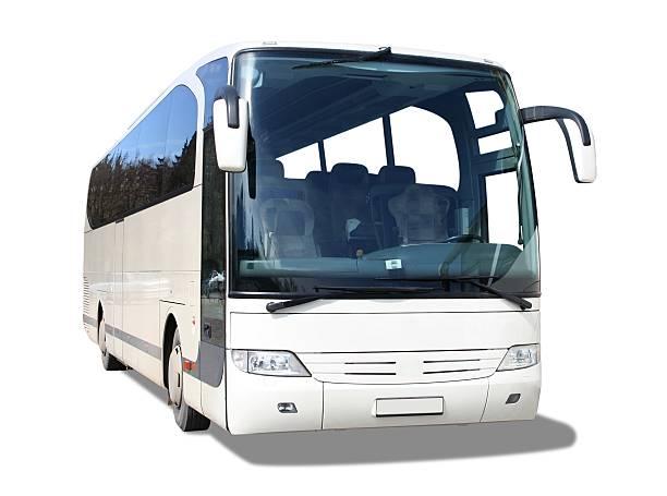 weißen bus - tour bus stock-fotos und bilder