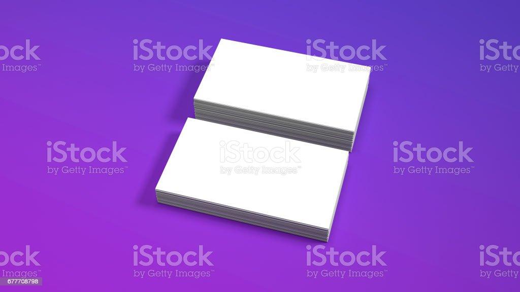 White business card mockup in purple studio high resolution 3d white business card mockup in purple studio high resolution 3d render royalty free colourmoves
