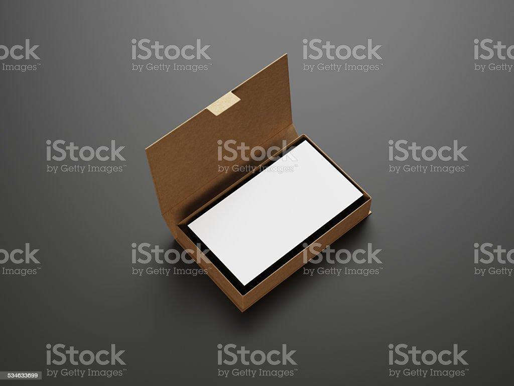 Weiße Visitenkarten In Das Feld Stockfoto Und Mehr Bilder
