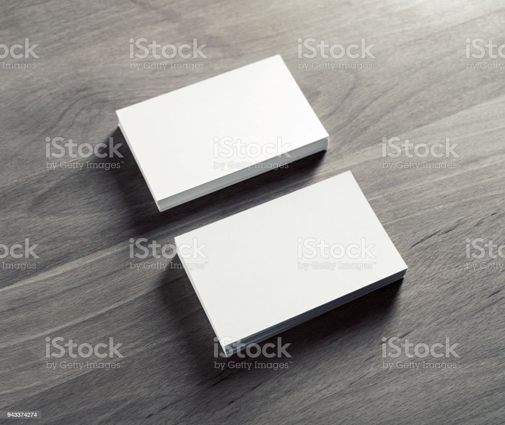White business cards stock photo