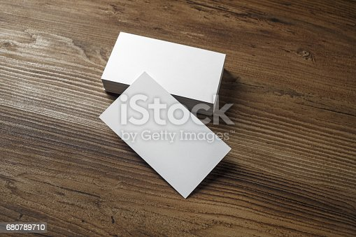 istock White bussiness cards 680789710