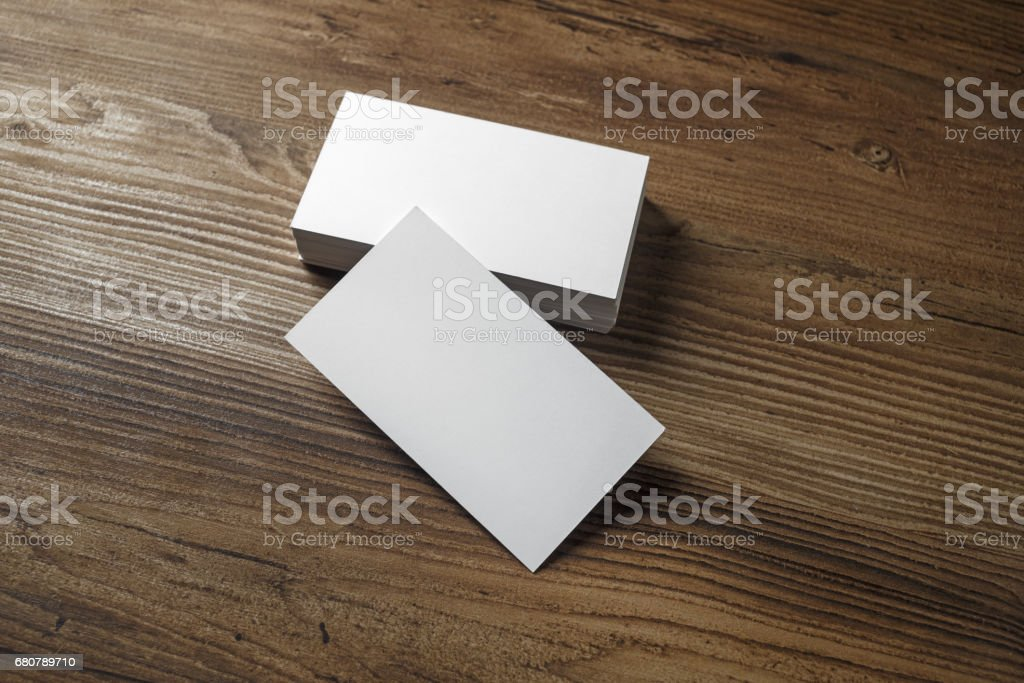 White bussiness cards stock photo