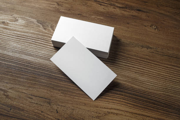 white bussiness cards - business card stock photos and pictures