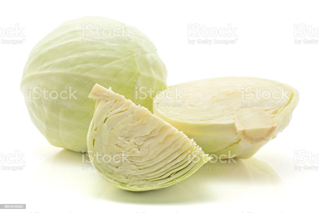 White cabbage isolated stock photo