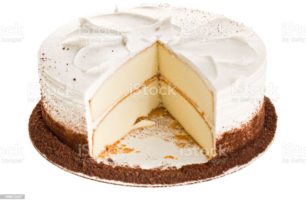 White Cake Slice Missing royalty-free stock photo