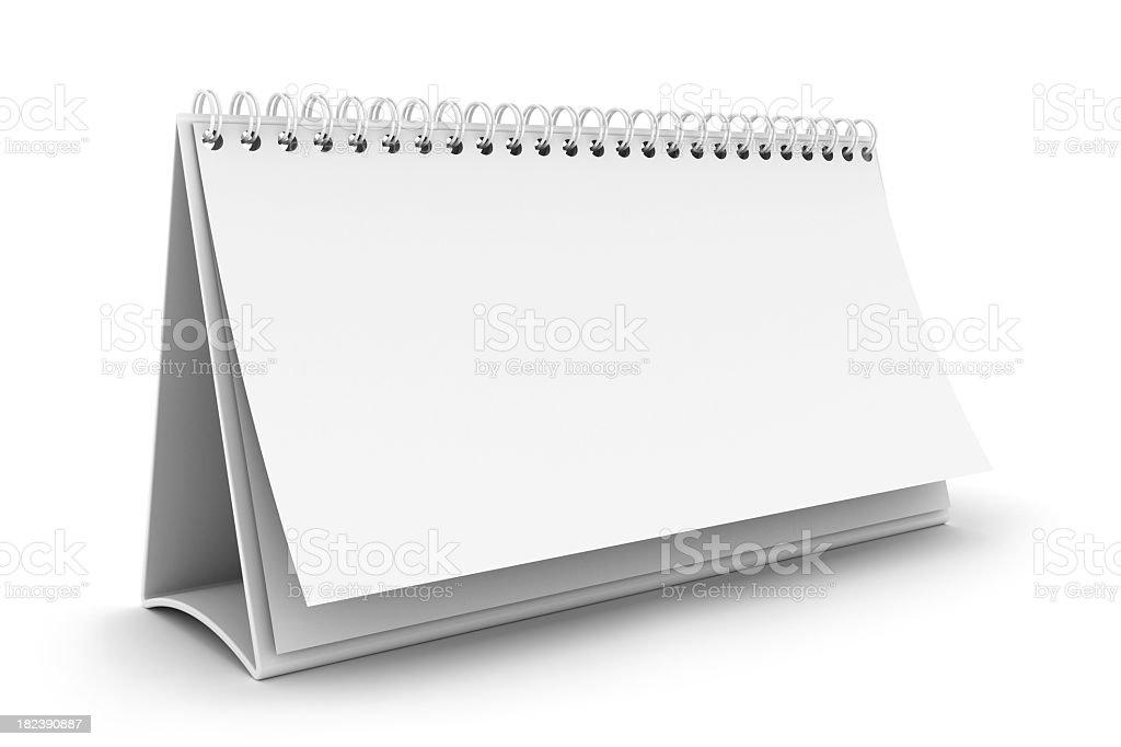 Calendario bianco - foto stock