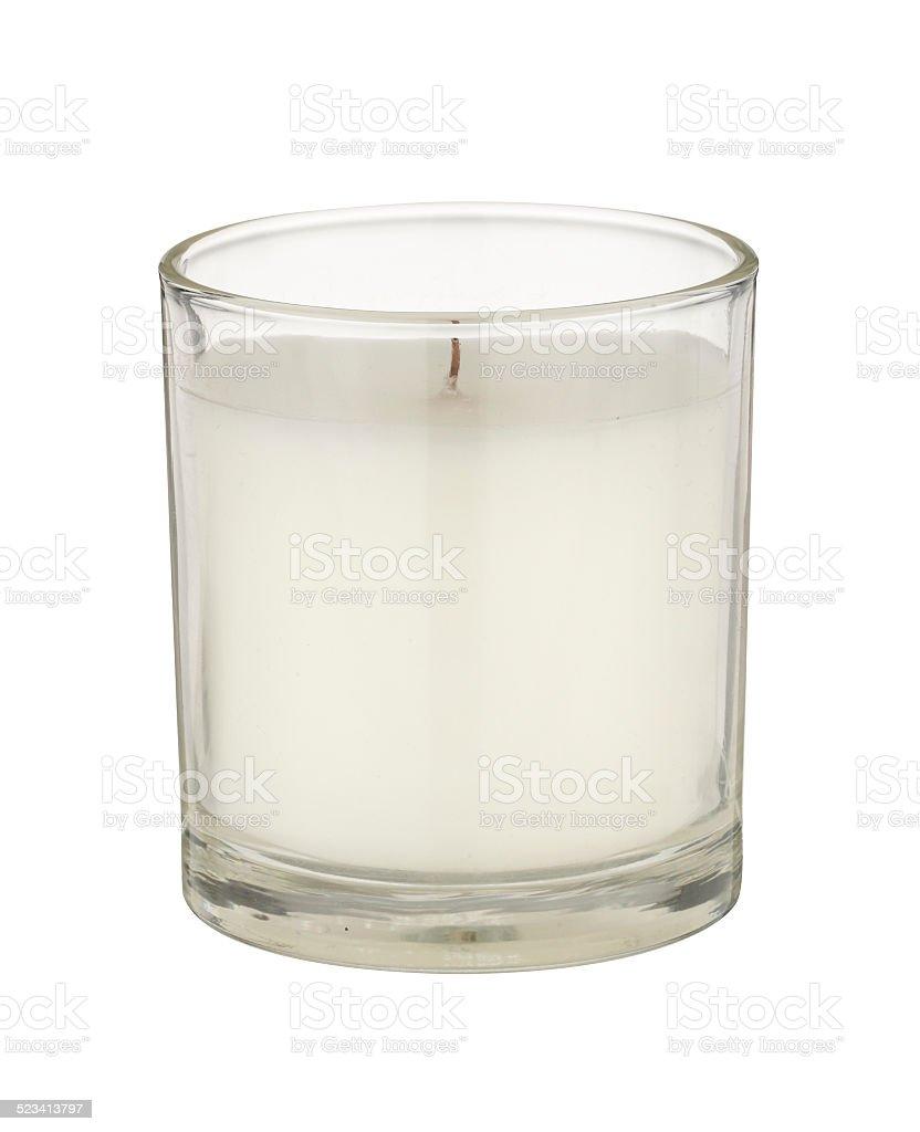 White Candle stock photo