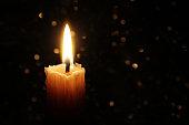 Candles Burning at Night.