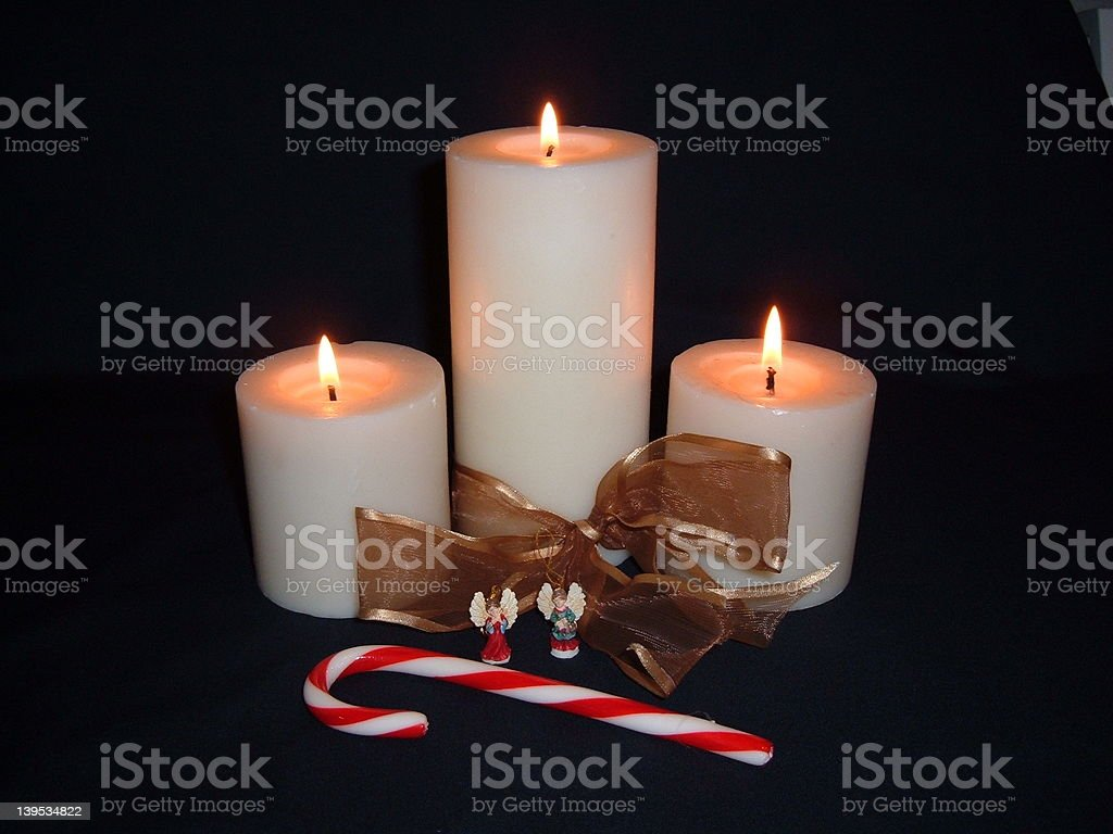 White Candles royalty-free stock photo