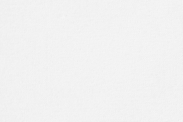 藝術繪畫的白色帆布麻布自然面料圖案背景 - fabric texture 個照片及圖片檔