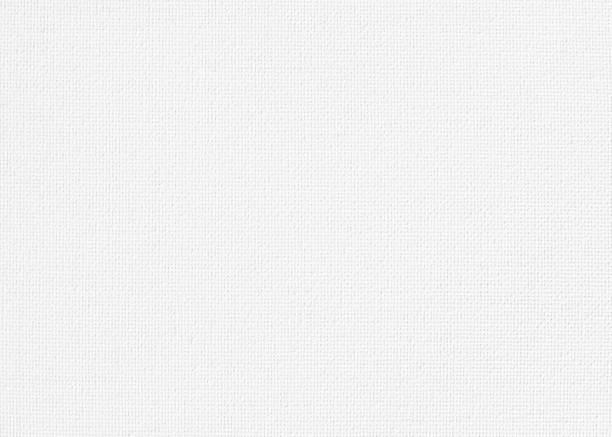 ホワイト キャンバス アート絵画の黄麻布天然繊維テクスチャ背景 ストックフォト