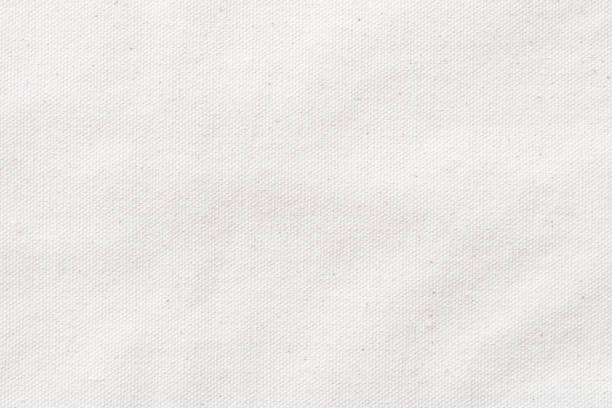 weiße leinwand-textur aus baumwolle naturstoff stoff für tapete und design-kulisse - textilien stock-fotos und bilder