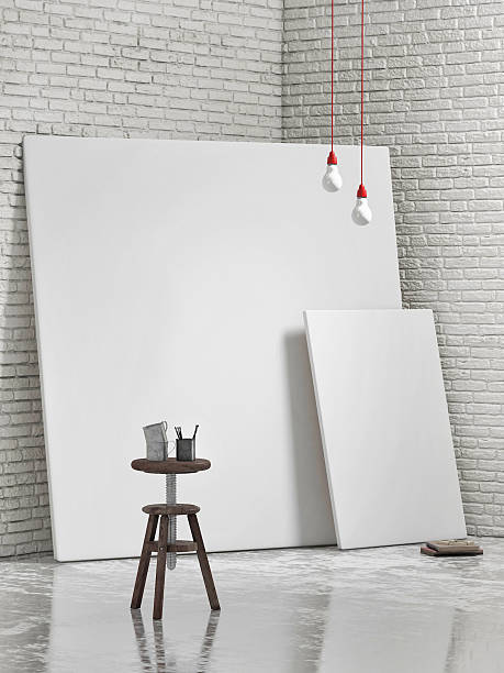 weißes canvas liebe, mock up hintergrund - große leinwand stock-fotos und bilder