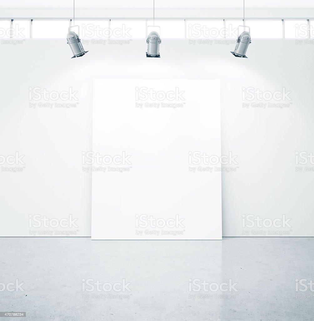 White canvas near the white wall stock photo